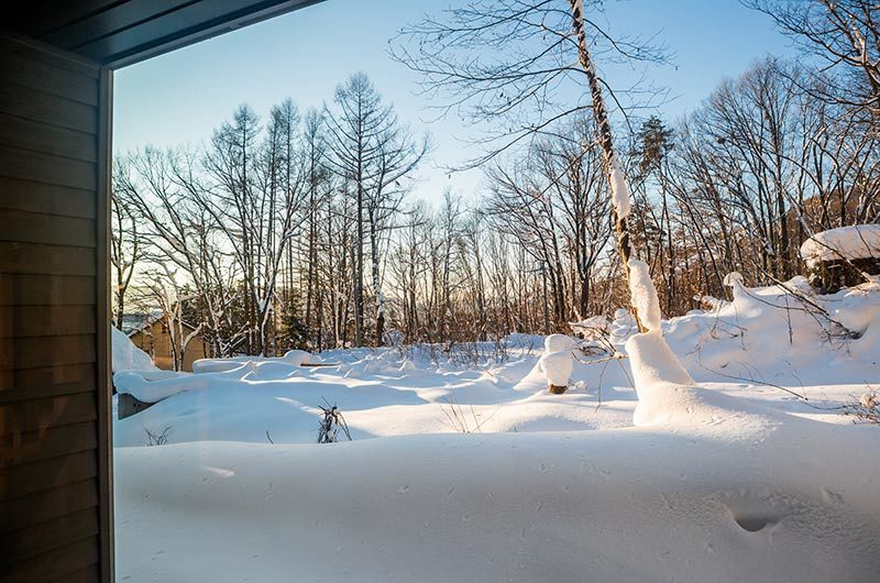 Solar Chalets Outdoor Area with Snow | Upper Wadano