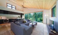 Solar Chalets Living Area with Outdoor View | Upper Wadano
