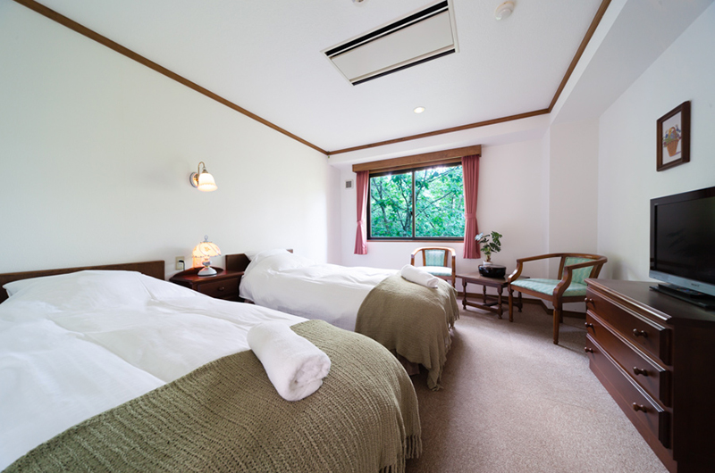 Wadano Forest Hotel Bedroom with Seating Area | Upper Wadano