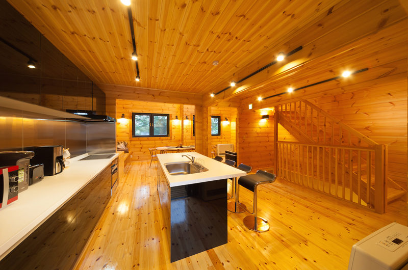Wadano Woods Chalets Kitchen with Wooden Floor | Lower Wadano