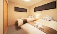Wadano Woods Chalets Twin Bedroom with Carpet | Lower Wadano