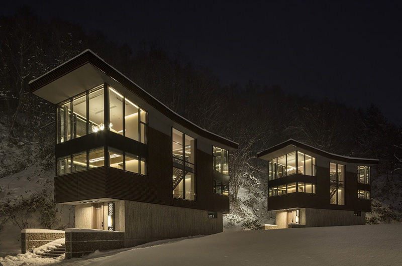 Aya Villas Night View | Upper Hirafu Village