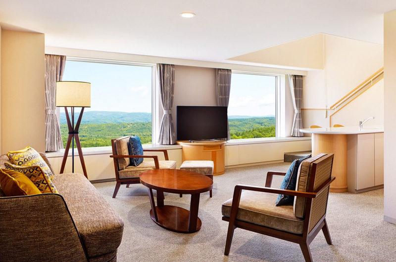 Westin Rusutsu Resort Living Area with TV | Rusutsu