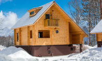 Wadano Woods Chalets Exterior with Snow | Lower Wadano