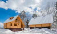 Wadano Woods Chalets Outdoor Area with Snow and Trees | Lower Wadano