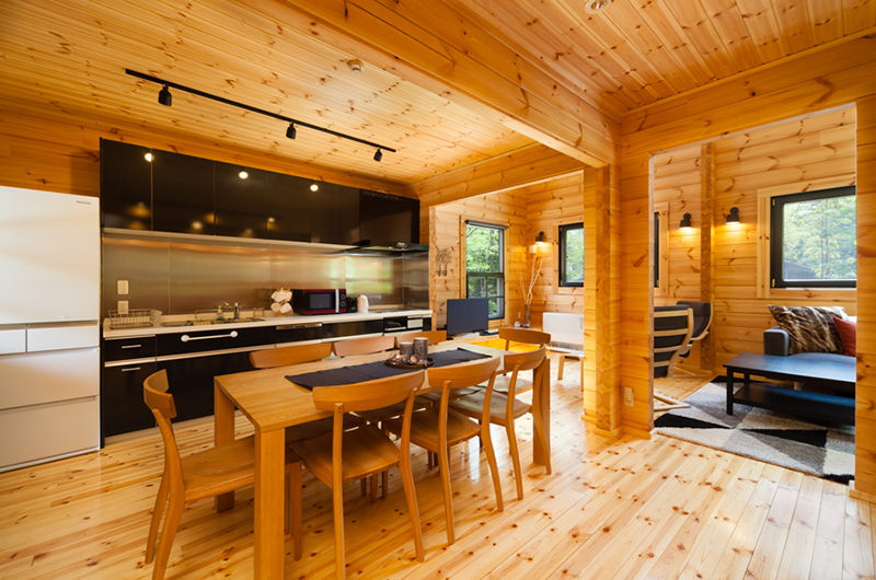 Wadano Woods Chalets Three Bedroom Chalets Kitchen and Dining Area | Lower Wadano