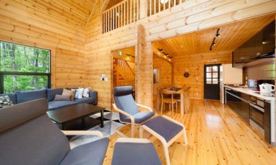 Wadano Woods Chalets Three Bedroom Chalets Living Area | Lower Wadano
