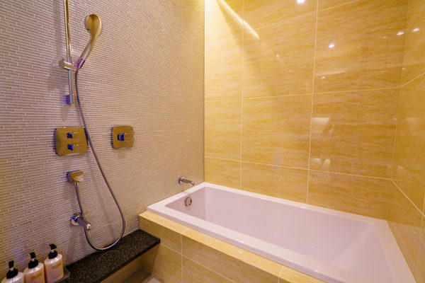Mountain Side Bathtub with Shower | Upper Wadano