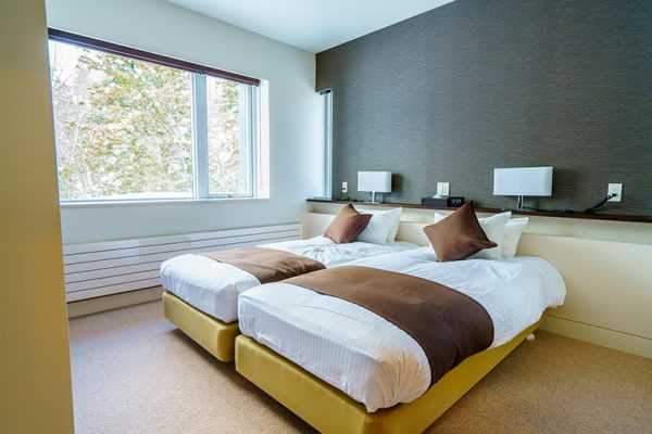 Mountain Side Twin Bedroom with Carpet | Upper Wadano