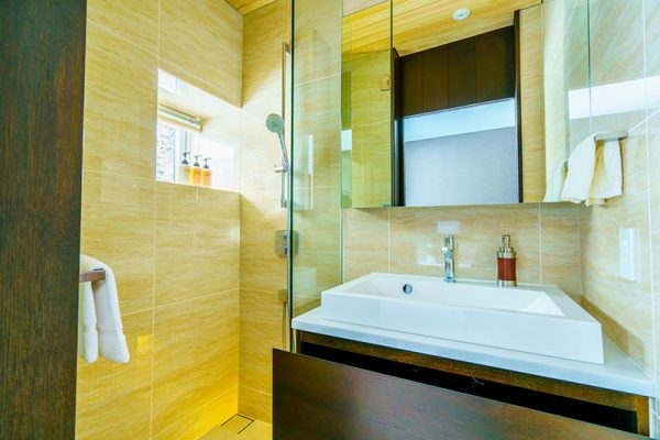 Mountain Side Bathroom with Shower | Upper Wadano