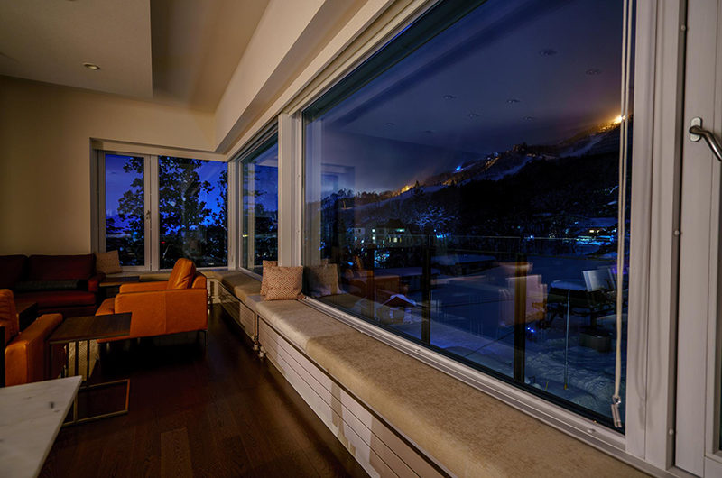 Mountain Side Night View from Window | Upper Wadano