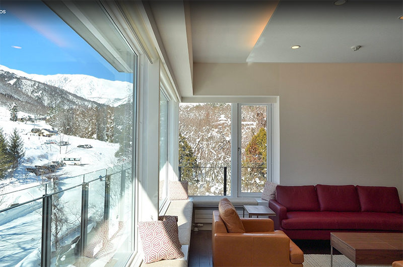 Mountain Side Lounge Room with Outdoor View | Upper Wadano