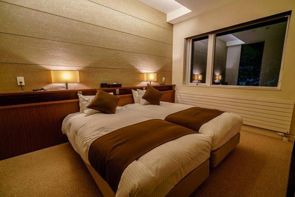 Mountain Side Twin Bedroom Night View | Upper Wadano