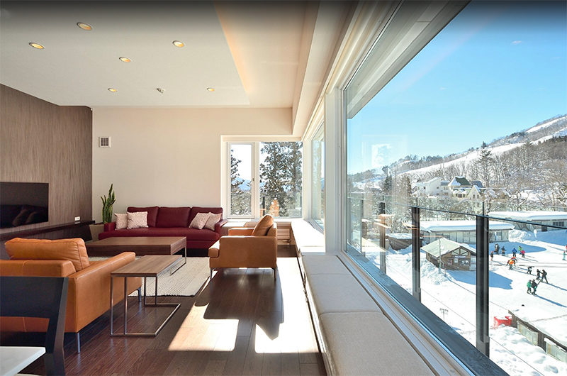 Mountain Side Living Area with TV | Upper Wadano