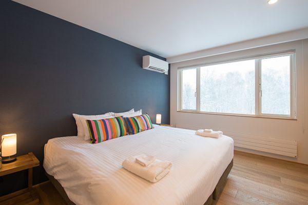 Chalet Luma Bedroom with Wooden Floor | West Hirafu