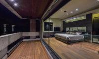 Ori Bedroom and Balcony View at Night | Lower Hirafu