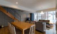 Kitanishi Two Indoor Living and Dining Area with Wooden Floor | Middle Hirafu