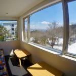 Altitude Hakuba Seating Area with View   Upper Wadano