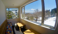Altitude Hakuba Seating Area with View | Upper Wadano