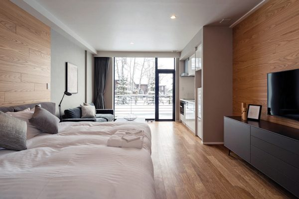 The Kamui Niseko Bedroom with TV | Annupuri
