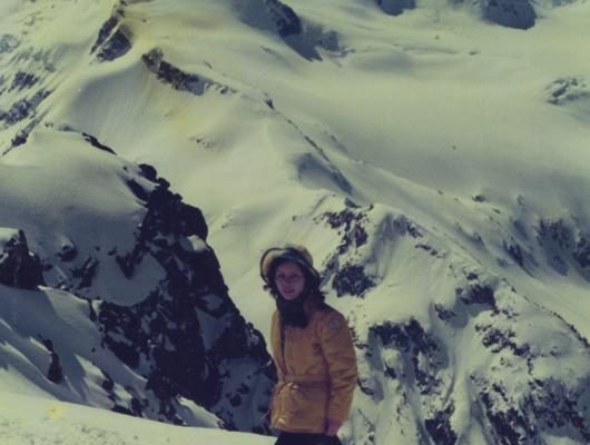 Urano-san heli skiing in Canada prior to settling in Hirafu.