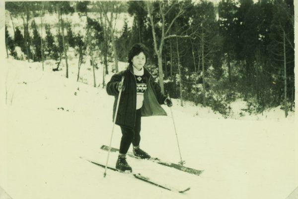 Taeko Urano as a teenager doing what she loves.
