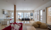 Chalet Billopp Living Dining and Kitchen Area | Lower Hirafu