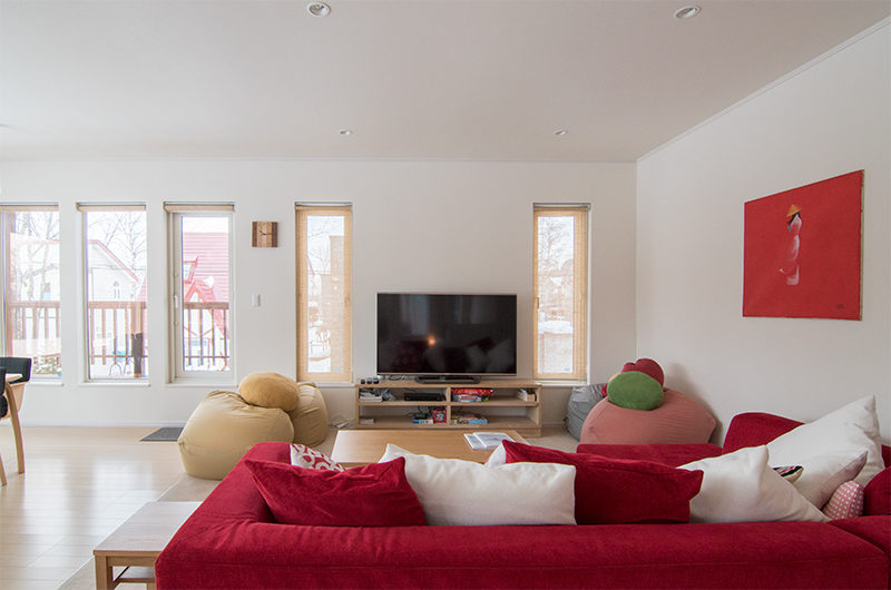 Chalet Billopp Living Room Television | Lower Hirafu