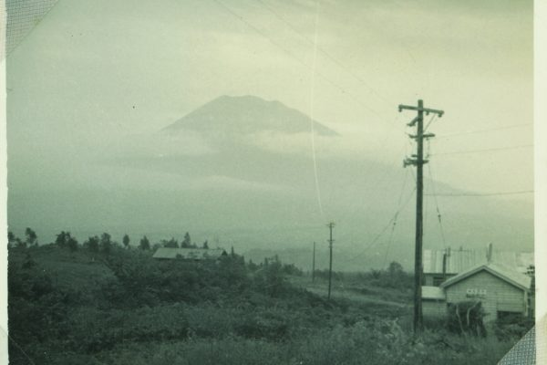 Mt Yotei seen from what is now the Welcome Center in Hirafu, 1962.