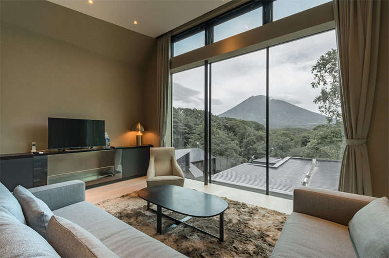 Boheme Living Area with View | Lower Hirafu Village