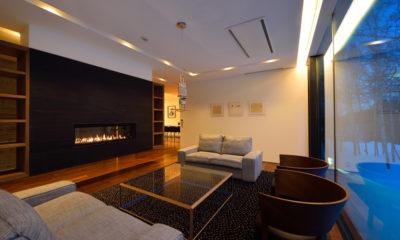 Mukashi Mukashi Living Area | Middle Hirafu