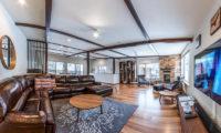 Zangetsu Living Area with Wooden Floor and TV | Lower Hirafu