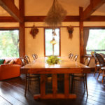 Momiji Hakuba Living Dining Area with Wooden Floor | Hakuba Village
