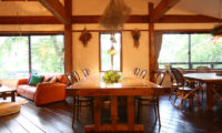 Momiji Hakuba Living Dining Area with Wooden Floor | Hakuba Village