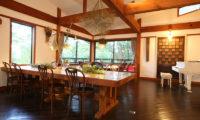 Momiji Hakuba Dining Area with Wooden Floor | Hakuba Village