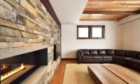 Kokoro Living Area near Fireplace | East Hirafu