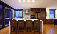 Kokoro Kitchen and Dining Area with Wooden Floor | East Hirafu