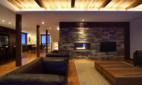 Kokoro Living Area with Fireplace | East Hirafu