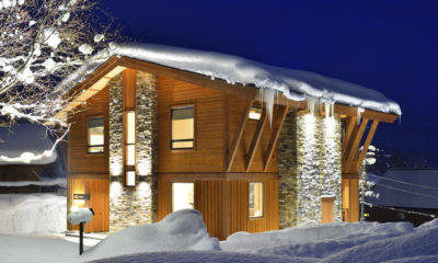 Kokoro Exterior with Snow at Night | East Hirafu