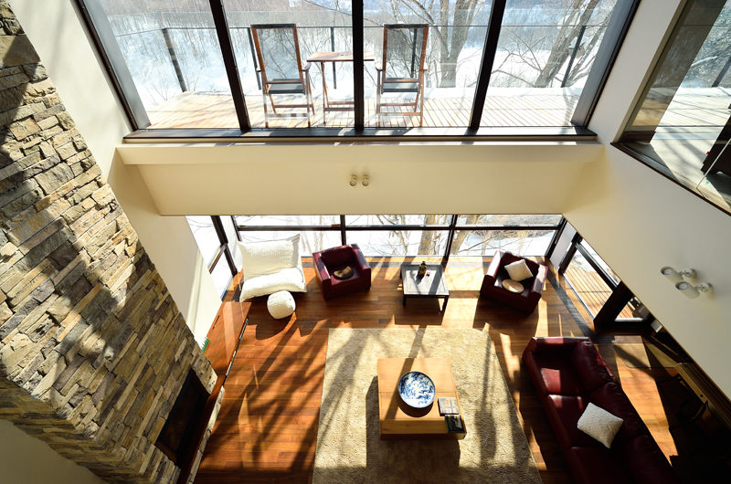 Panorama Living Area Top View | Lower Hirafu