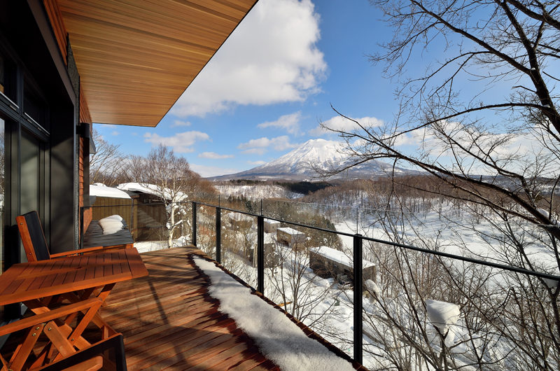 Panorama Mountain View from Balcony | Lower Hirafu