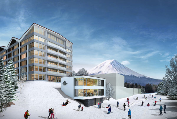 The Maples Niseko Exterior with Snow | Upper Hirafu