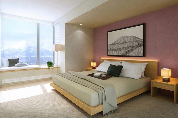 The Maples Niseko Bedroom View | Upper Hirafu