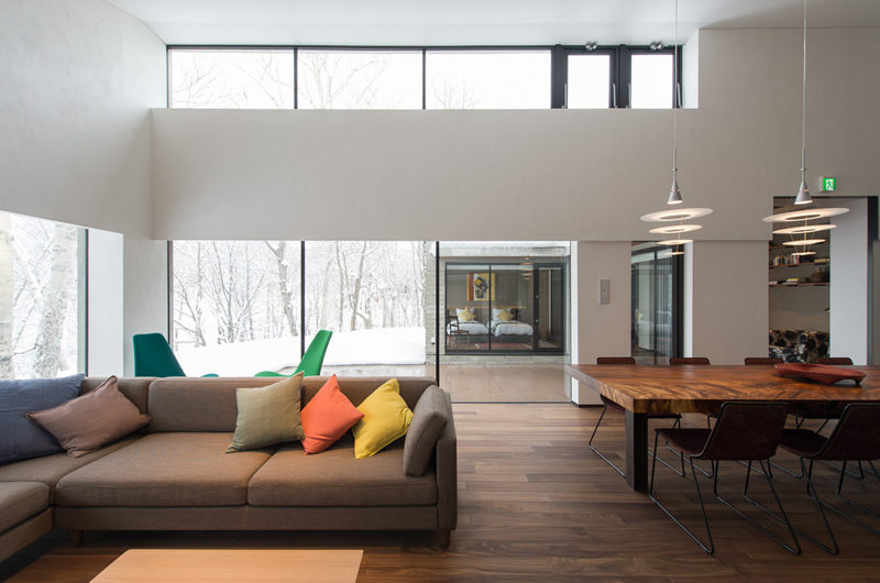 Setsu In Living and Dining Area with Wooden Floor | Hanazono