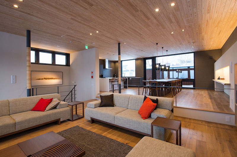 Kazahana Lounge Area with Wooden Floor | Middle Hirafux