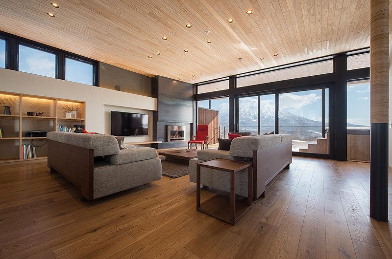 Kazahana Living Area with Mountain View | Middle Hirafux