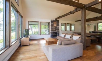 Moiwa Chalet Living Area with Fireplace | Moiwa