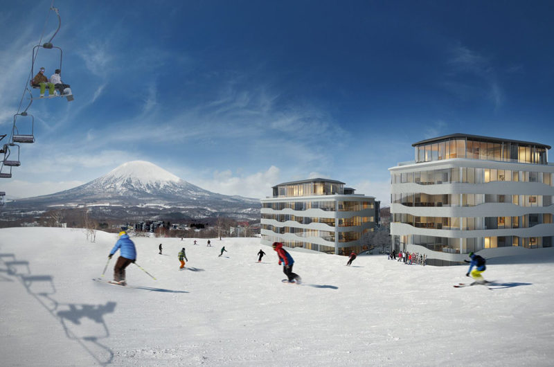 Skye Niseko Penthouse Outdoor Skiing | Upper Hirafu Village