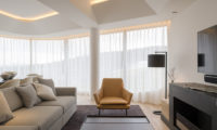 Skye Niseko Four Bedroom Suite Lounge Area with TV | Upper Hirafu Village
