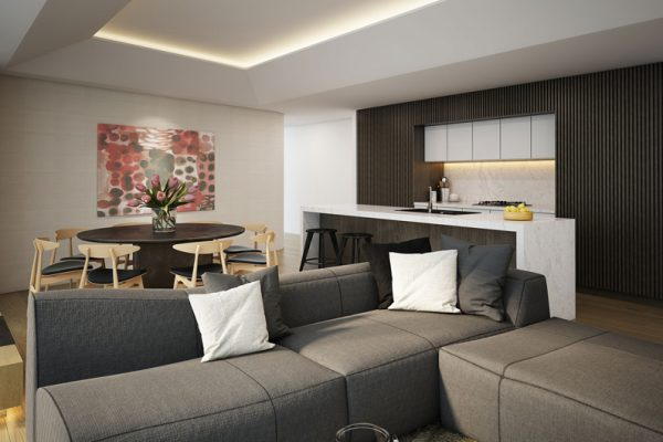 Skye Niseko Penthouse Living and Dining Area | Upper Hirafu Village